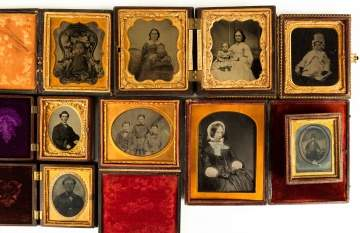 Group of Various Tin Types, etc.