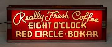 "Vintage ""Really Fresh Coffee"" Light Up Advertising  Sign"