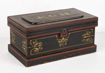 19th Century Diminutive Painted Tool Chest