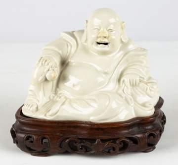 Chinese Buddha on Carved Stand