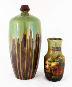 Two Hand Painted Pottery Vases