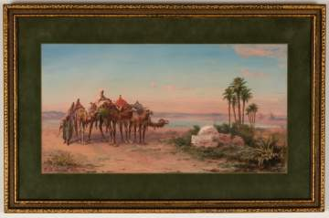 Paul B. Pascal (French, 1830-1905) Middle Eastern Scene