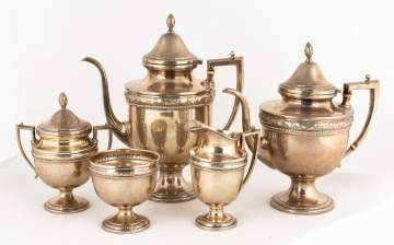 Frank W. Whiting Sterling Tea and Coffee Set