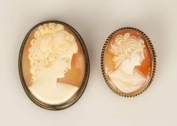 Two Cameo Pins