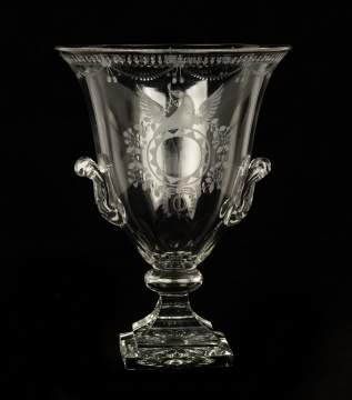 Steuben Strawberry Mansion Trophy Vase