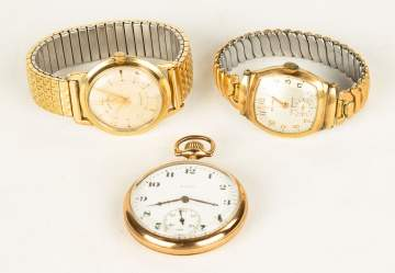 Gold Filled Elgin Pocket Watch and Wristwatches