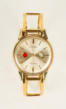14K Gold LeCoultre Futurematic Port Hole Wristwatch