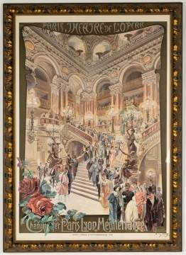 "Print after Carlo Cussetti (1866-1949) ""Theatre de  l'opera"""