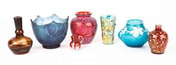 Group of Art Glass, Webb, Galle, Moser, etc.