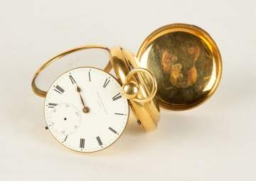 David Samuel & Sons London, 18K Gold Pocket Watch