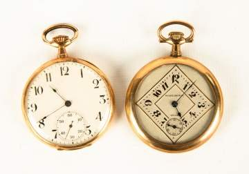 Election Gold Pocket Watch & Raymond Gold Plated  Pocket Watch