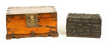 Chinese Chest & Tea Caddy