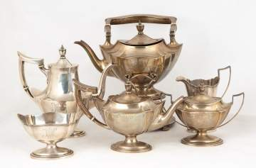 Gorham Sterling Silver Tea and Coffee Set