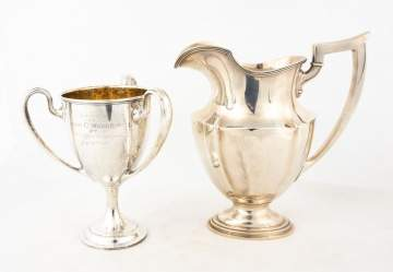 Gorham Sterling Silver Water Pitcher & Trophy