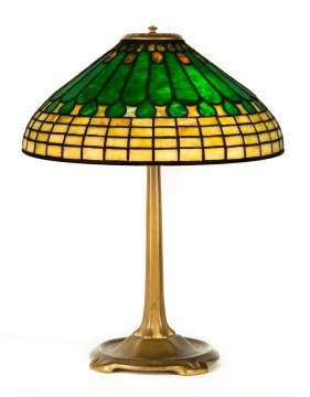Tiffany Studios, NY Jewel & Feather Table Lamp