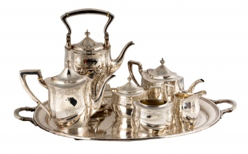 Sterling Silver Tea Set & Tray