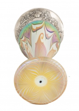 Fine Quezal Art Glass Vase