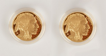 (2) US American Buffalo 2006 One Ounce Gold Proof Coins