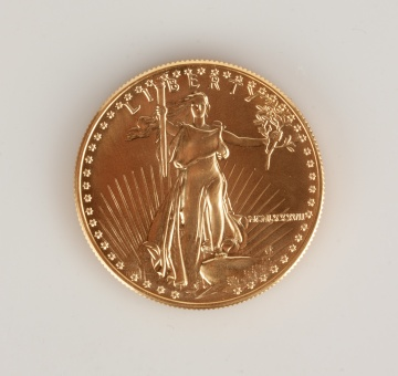 US Liberty MCMLXXXVII One Ounce Gold Coin