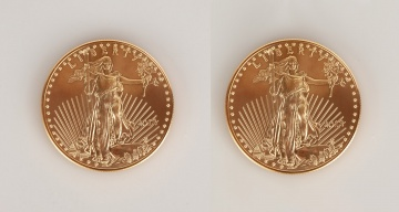 (2) US Liberty 2013 One Ounce Gold Coins
