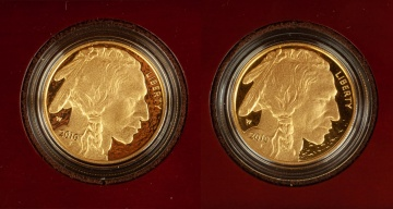 (2) US American Buffalo 2010 One Ounce Gold Proof Coins