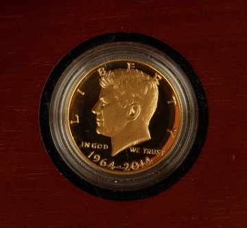 US 50th Anniversary Kennedy Half Dollar Gold Proof Coin
