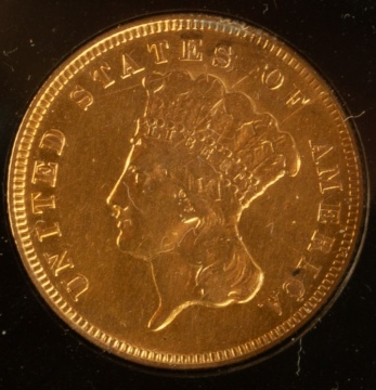 US 1878 $3 Gold Coin