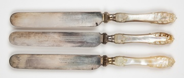(3) Ulysses S. Grant, Presentation Luncheon Knives
