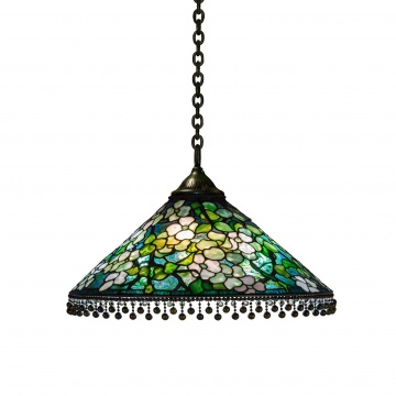 An Early Tiffany Studios, New York, Dogwood Chandelier