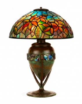 A Fine Tiffany Studios, New York, Woodbine Table Lamp