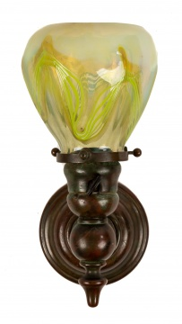 Tiffany Studios, New York Wall Sconce with Paperweight Shade
