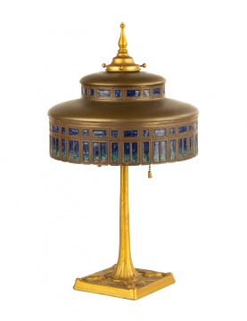 Tiffany Studios, New York Furnaces Plique-A-Jour Table Lamp