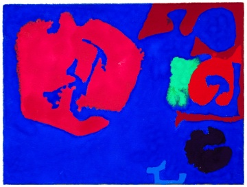 "Patrick Heron (British, 1920-1999) ""Pink in Ultramarine: Mini: April 25: 1981"""
