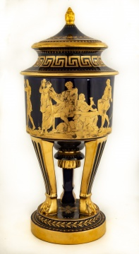 Sèvres Style Porcelain Covered Urn