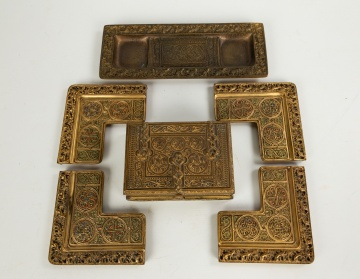 Tiffany Studios, New York 9th Century Desk  Accessories
