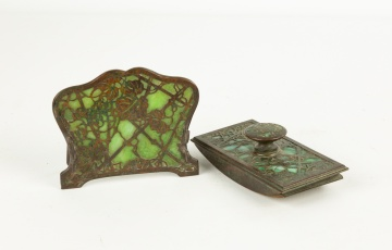 Tiffany Studios, New York, Blotter and Pen Holder