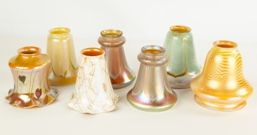 Seven Art Glass Shades