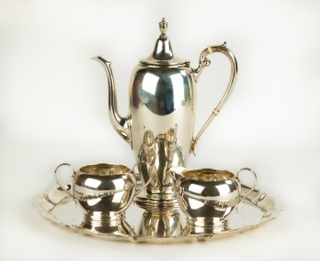 Gorham Sterling Silver Tea Set and Tray