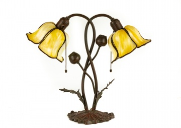Unusual Handel Floral Table Lamp
