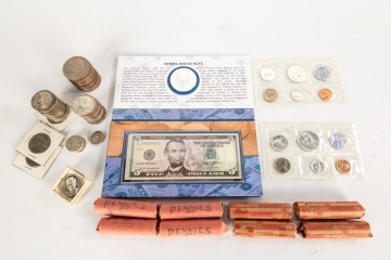 Group of Currency and Coins