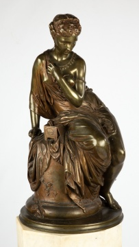 Jean Jules Salmson (French, 1823–1902) Bronze of  Pandora