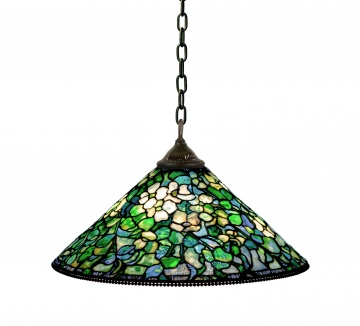 Tiffany Studios, New York, Dogwood Chandelier