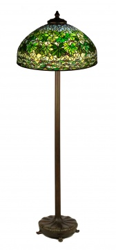 Tiffany Studios, New York, Maple Leaf Floor Lamp