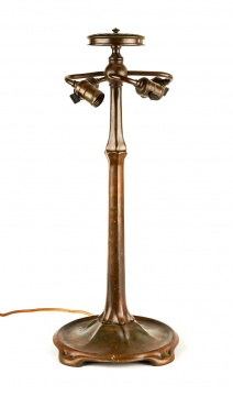 Tiffany Studios, New York, Bronze Lamp Base