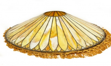 Vintage Leaded Glass Hanging Shade