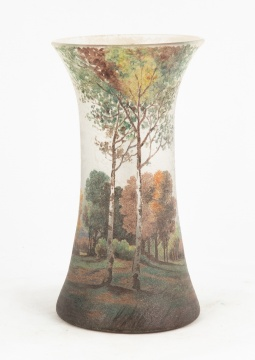 Handel Teroma Etched and  Painted Vase