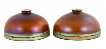 Two Nearly Identical Steuben Decorated Shades
