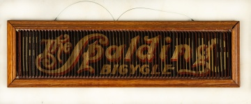 Rare Spalding Bicycle Advertising Triple Sign