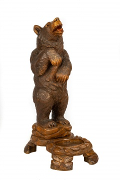 Carved Black Forest Bear Stand