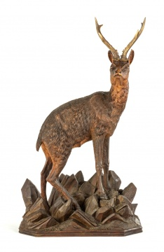 Large Carved Black Forest Stag